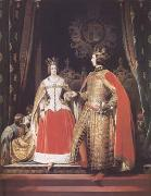 Queen Victoria and Prince Albert at the Bal Costume of 12 May 1842 (mk25) Sir Edwin Landseer