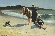 Eaglehead,Manchester,Massachusetts (High Tide:The Bathers) (mk44) Winslow Homer