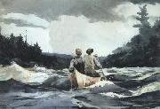 Canoe in Rapids (mk44) Winslow Homer