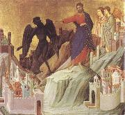 The Tempration of Christ on the Mountain Duccio