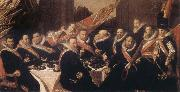 Banquet of the Office of the St George Civic Guard in Haarlem Frans Hals