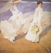 Walk on the Beach Joaquin Sorolla Y Bastida