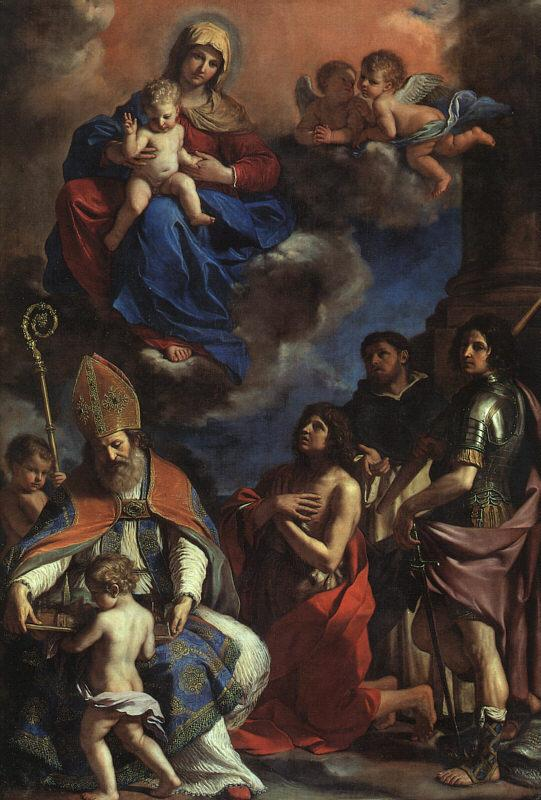 Giovanni Francesco  Guercino Virgin and Child with the Patron Saints of Modena