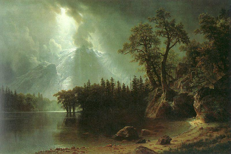Albert Bierstadt Passing Storm over the Sierra Nevada