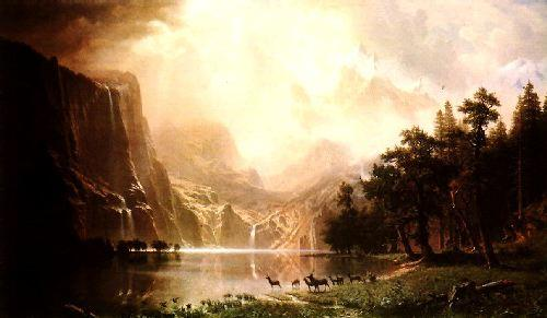 Albert Bierstadt The Sierra Nevada in California