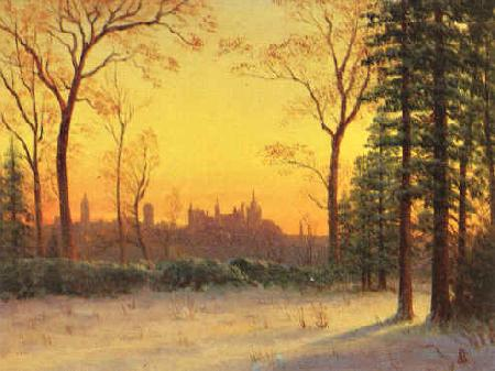 Albert Bierstadt View of the Parliament Buildings from the Grounds of Rideau Halls