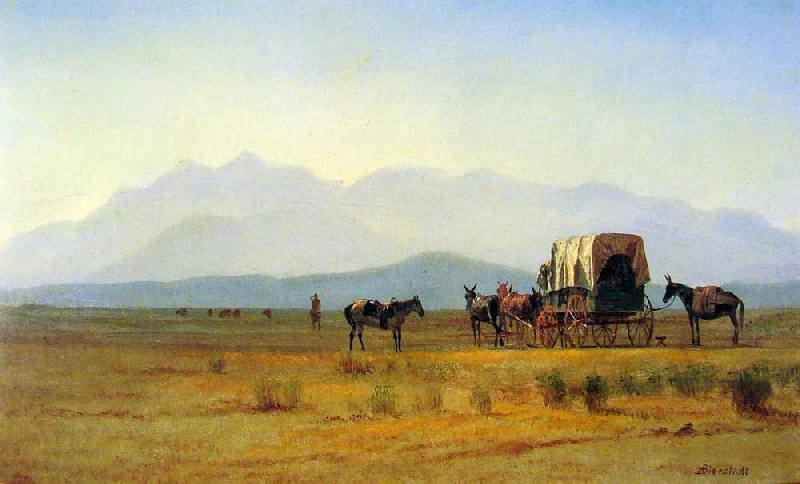 Albert Bierstadt Surveyor's Wagon in the Rockies