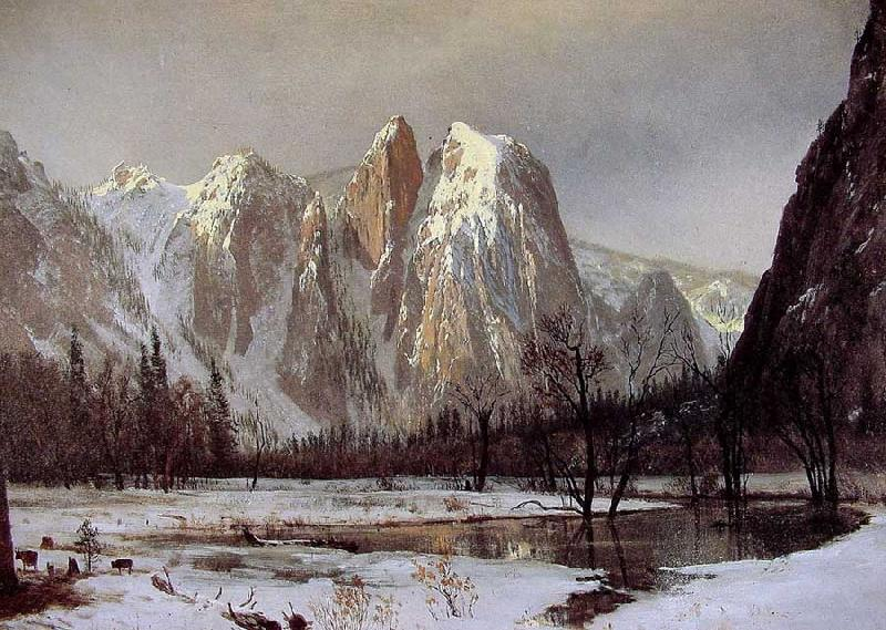 Albert Bierstadt Cathedral Rock, Yosemite Valley