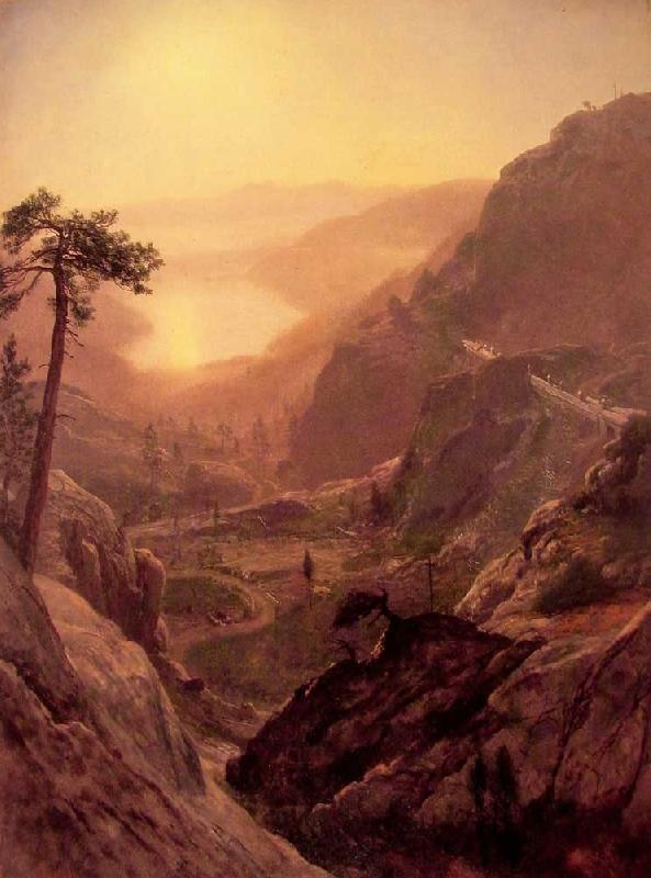 Albert Bierstadt View of Donner Lake, California