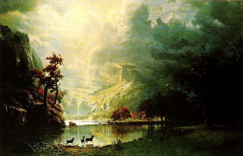Albert Bierstadt Sierra Nevada Morning