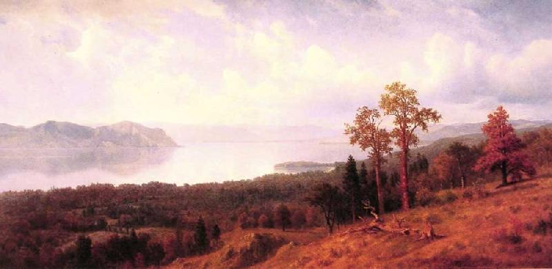 Albert Bierstadt View of the Hudson Looking Across the Tappan Zee-Towards Hook Mountain