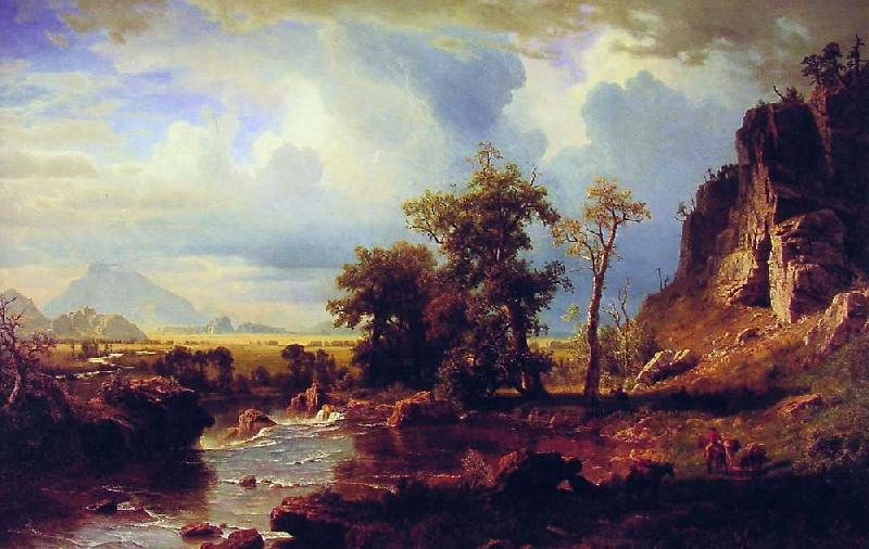 Albert Bierstadt North Fork of the Platte Nebraska
