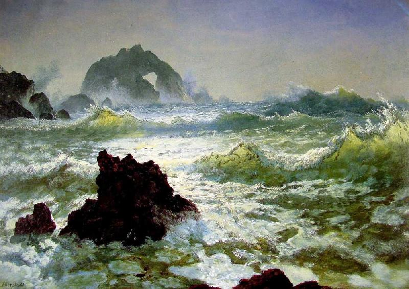 Albert Bierstadt Seal Rock, California