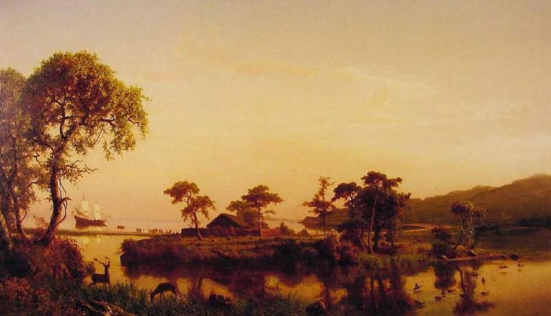 Albert Bierstadt Gosnold at Cuttyhunk