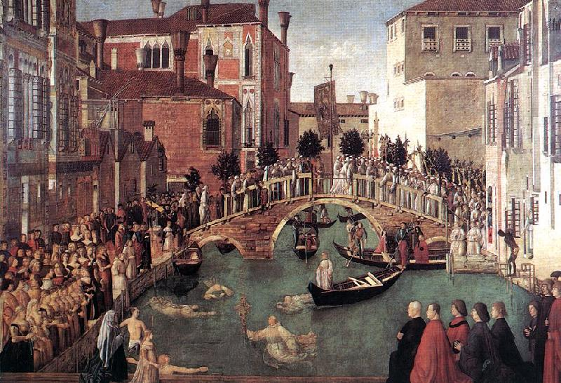 BELLINI, Gentile Miracle of the Cross at the Bridge of S. Lorenzo