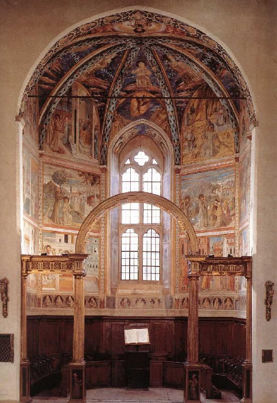 GOZZOLI, Benozzo View of the main apsidal chapel dfg