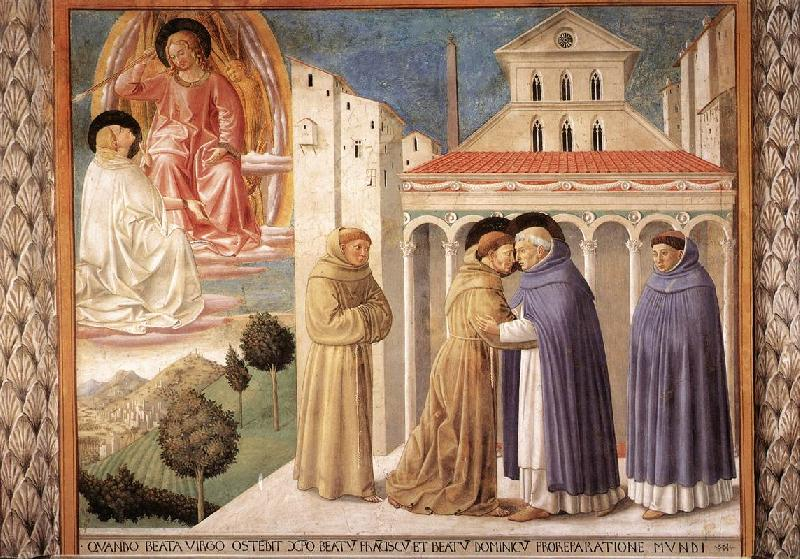 GOZZOLI, Benozzo Scenes from the Life of St Francis (Scene 4, south wall) sdg