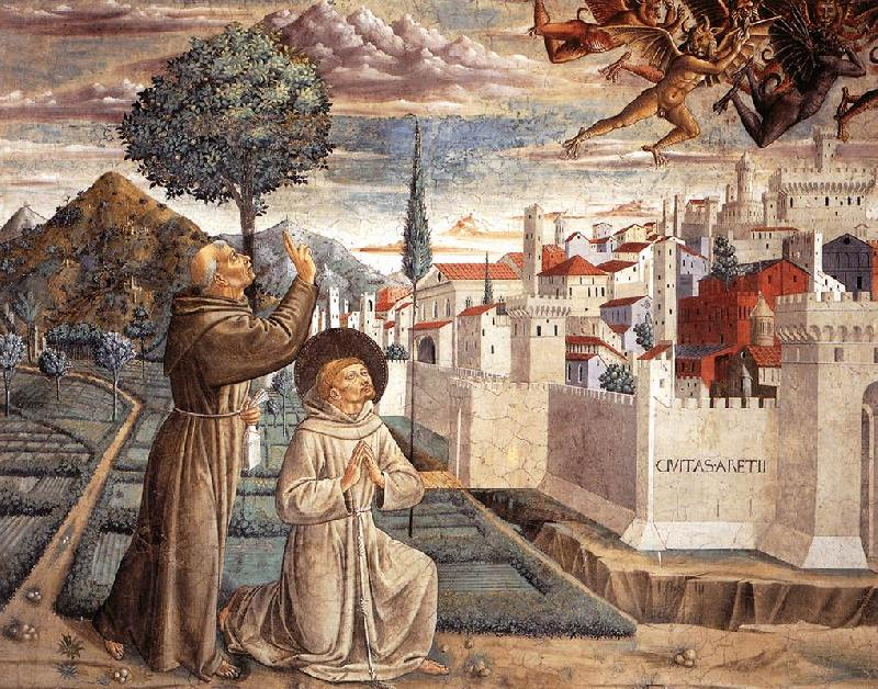 GOZZOLI, Benozzo Scenes from the Life of St Francis (Scene 6, north wall) g