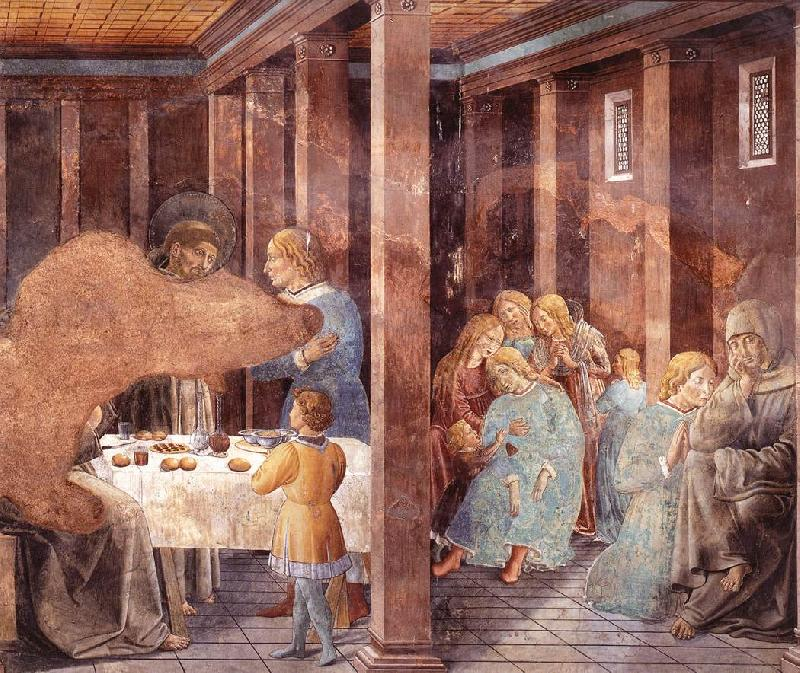 GOZZOLI, Benozzo Scenes from the Life of St Francis (Scene 8, south wall) dh
