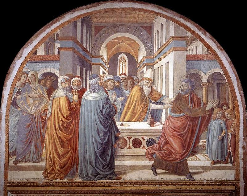 GOZZOLI, Benozzo Expulsion of Joachim from the Temple g