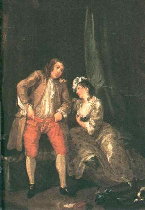 HOGARTH, William Before the Seduction and After sf