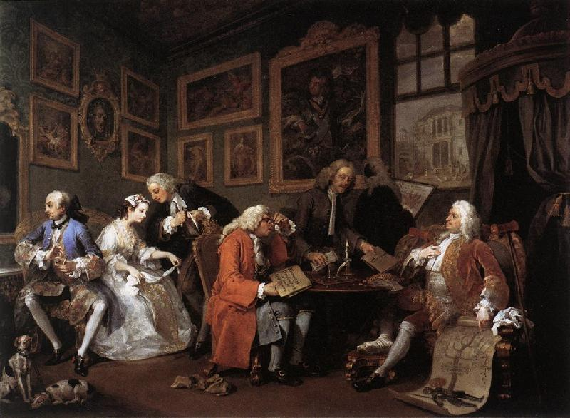 HOGARTH, William Marriage a la Mode 1