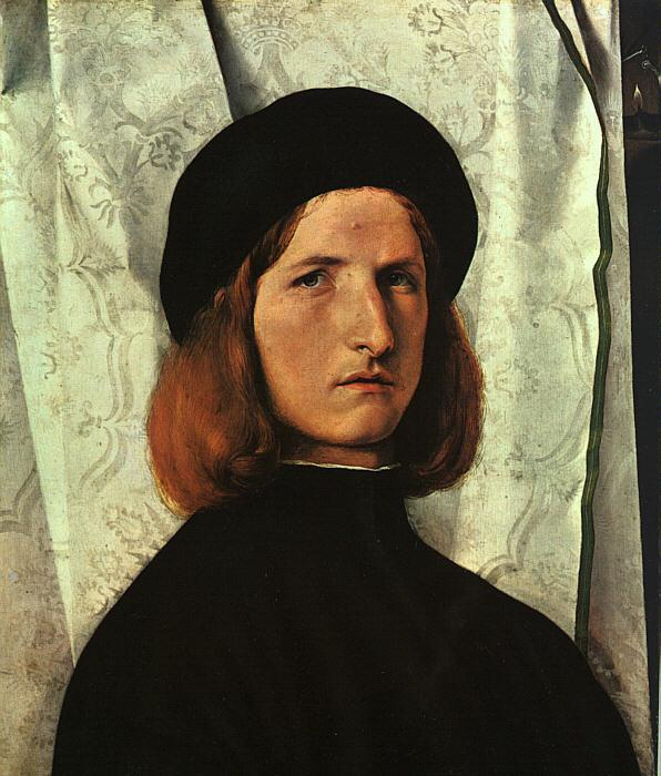 Lorenzo Lotto Portrait of a Young Man   cc