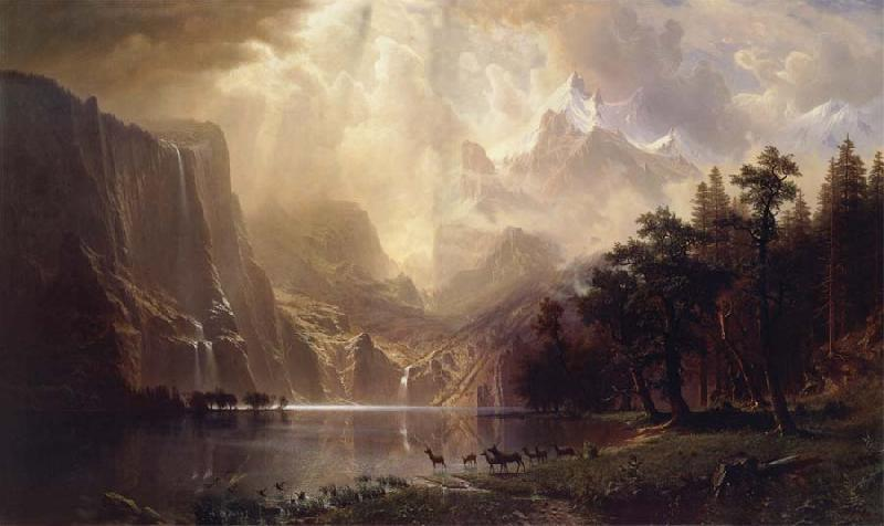 Albert Bierstadt Among the Sierra Nevada,California