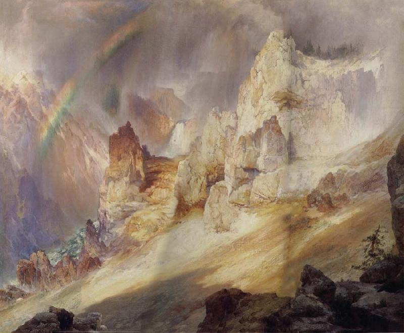 Thomas Moran Rainbow over the Grand Canyon of the Rellowstone