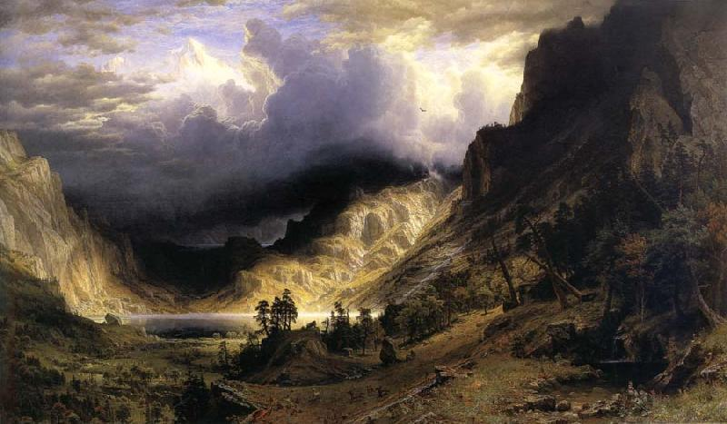 Albert Bierstadt A Storm in t he Rocky Mountains,Mt,Rosalie
