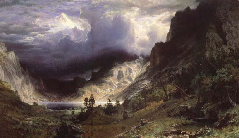 Albert Bierstadt Ein Sturm in den RockY Mountains,Mount Rosalie