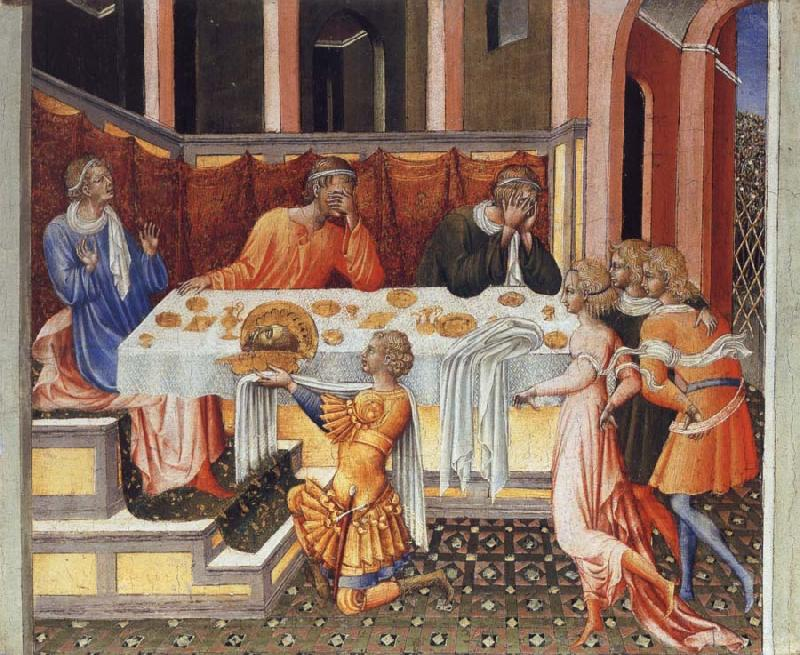 Giovanni di Paolo The Feast of Herod