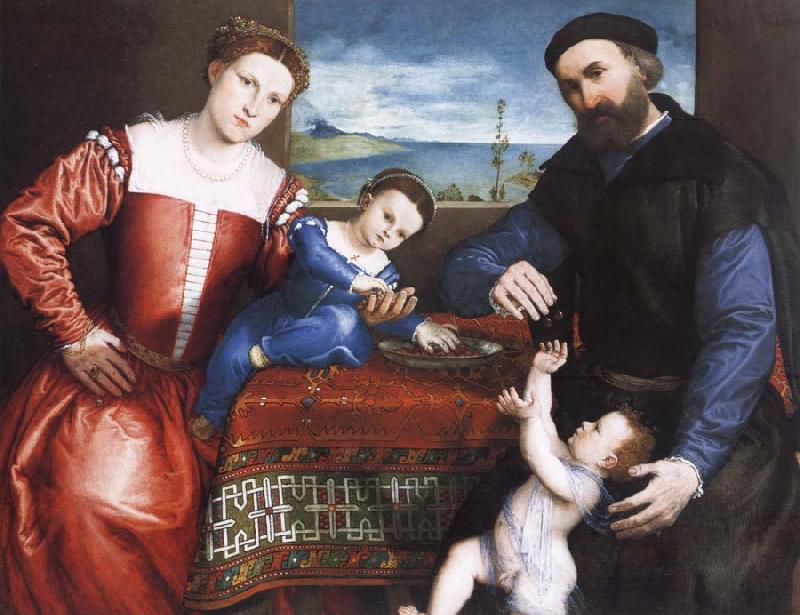 Lorenzo Lotto Giovanni della Volta with His Wife and Children