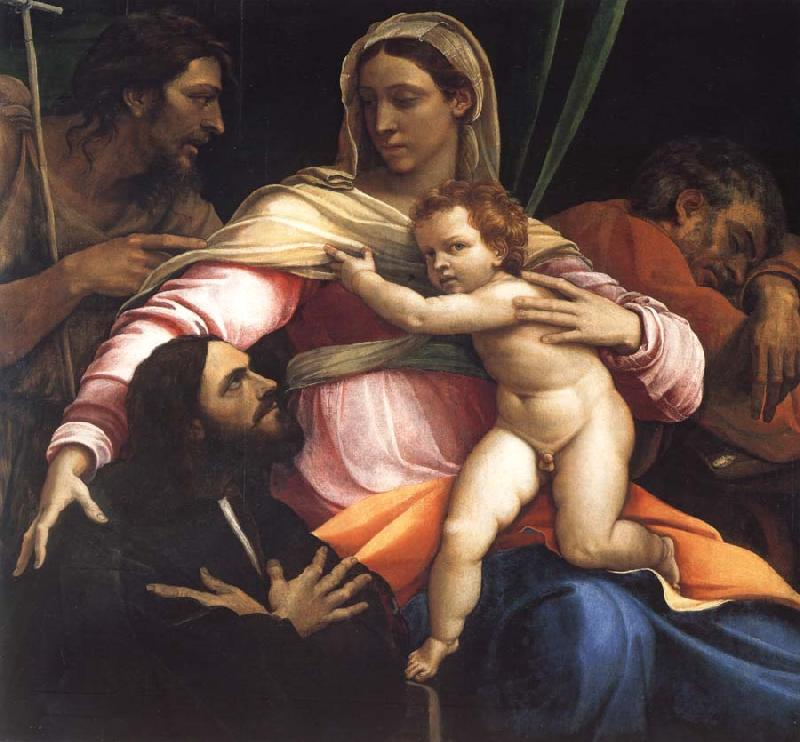 Sebastiano del Piombo The Madonna and Child with Saints Joseph and John the Baptist and a Donor