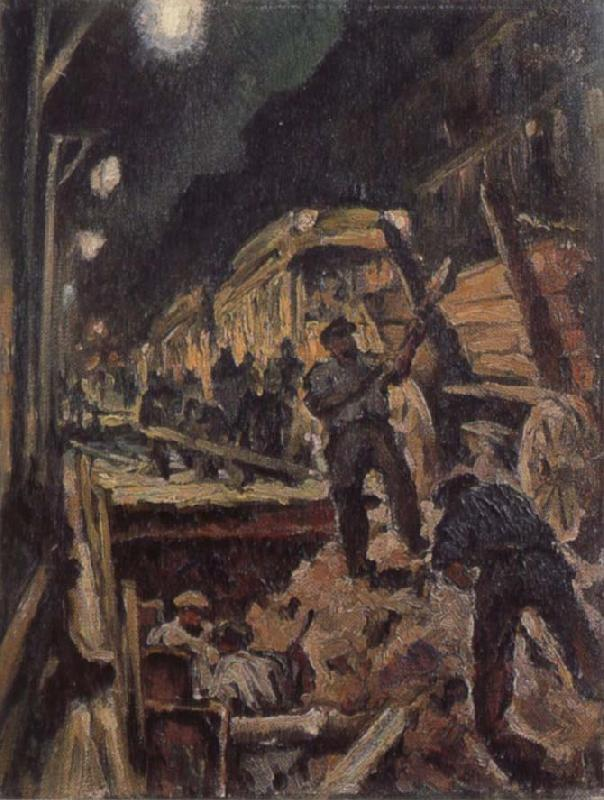 Waldemar Rosler U-train-building in night