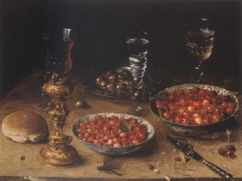 Osias Beert Museum national style life with cherries and strawberries in Chinese china shot els