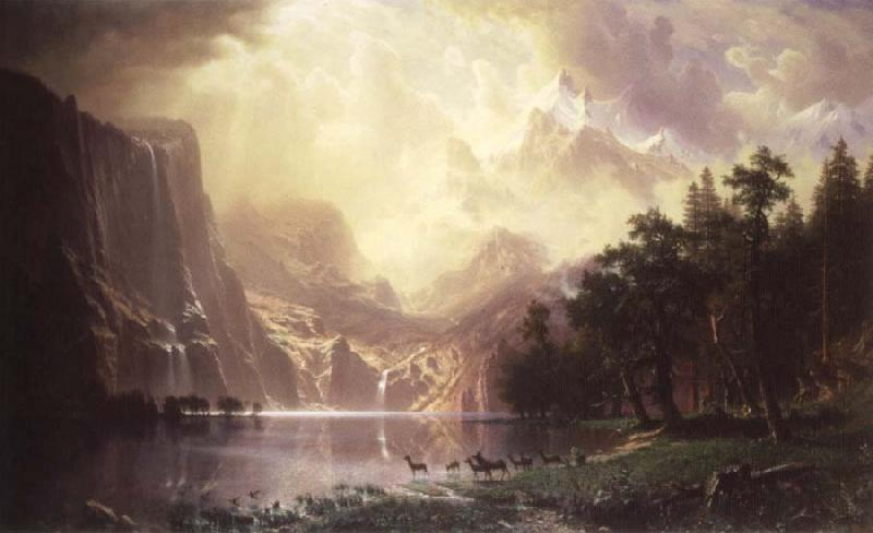 Albert Bierstadt During the mountain