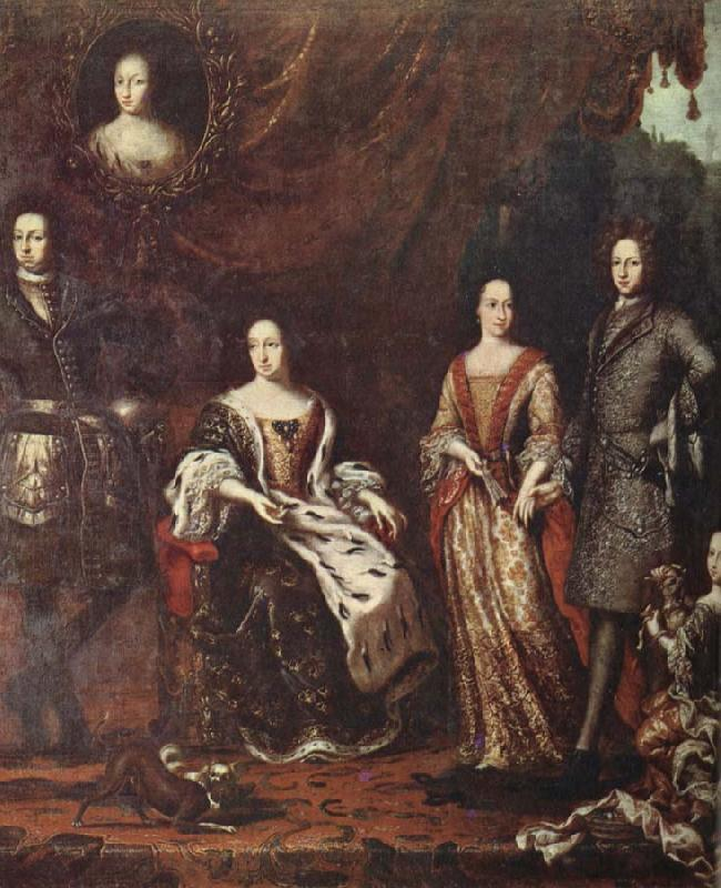 unknow artist The Caroline envaldet Fellow XI and his family pa 1690- digits