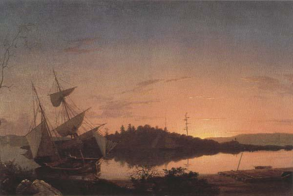 Frederic E.Church Twilight on the Kennebec