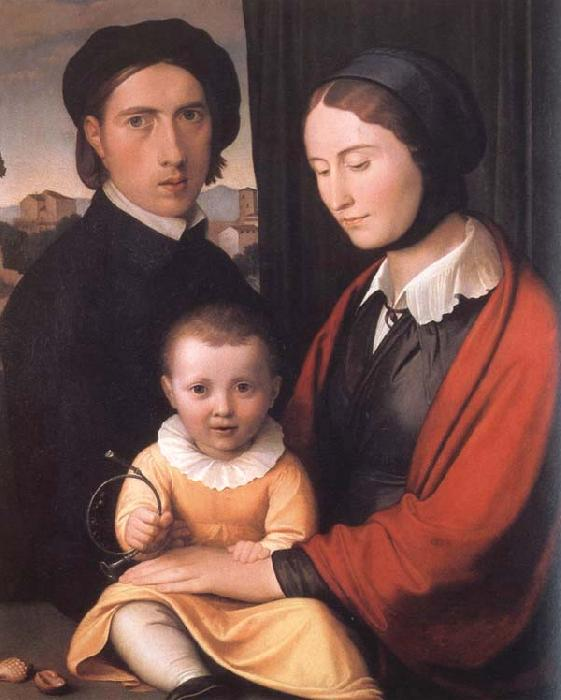 Friedrich overbeck The Artist with his Family