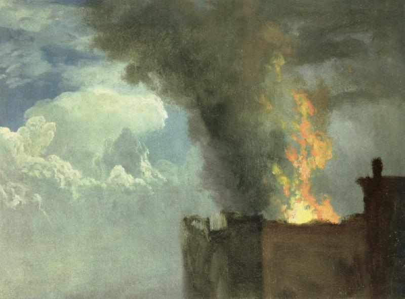Albert Bierstadt the conflagration