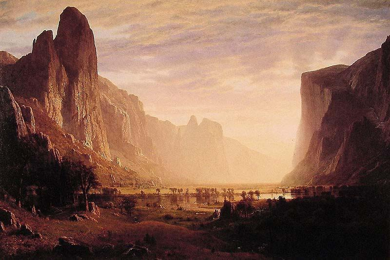 Albert Bierstadt Albert Bierstadt Looking Down Yosemite Valley