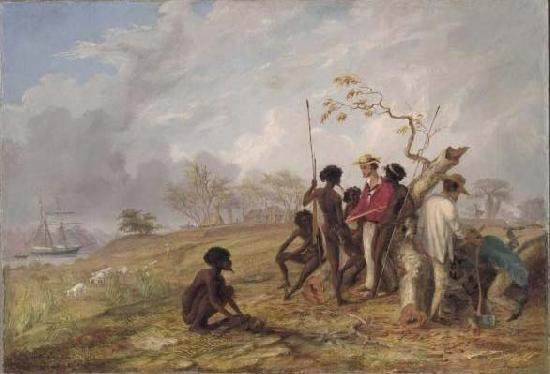 Thomas Baines Aborigines near the mouth of the Victoria River