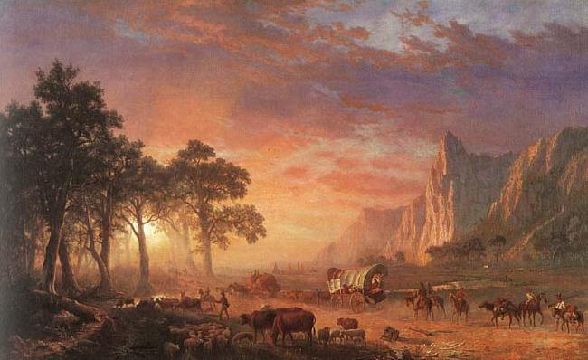 Albert Bierstadt Oregon Trail,