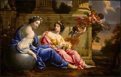 Simon Vouet The Muses Urania and Calliope