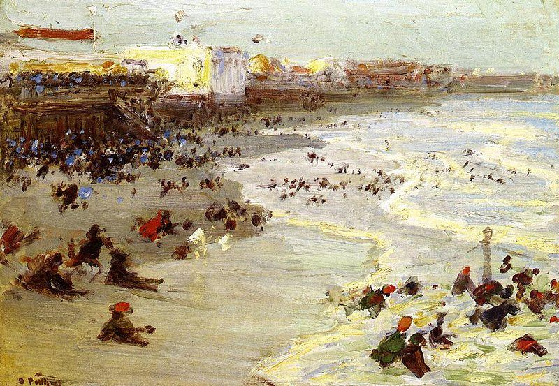 Edward Henry Potthast Prints Oil painting of Coney Island