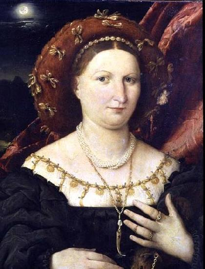 Lorenzo Lotto Portrait of Lucina Brembati