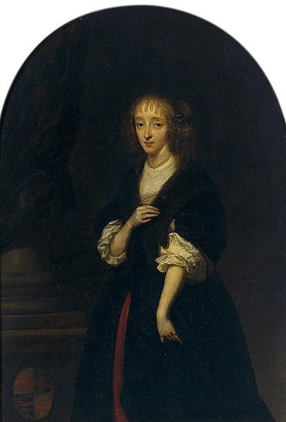 caspar netscher Portrait of Jacoba Bicker