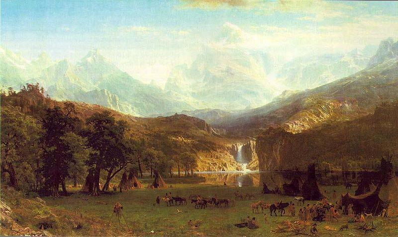 Albert Bierstadt The Rocky Mountains, Lander Peak