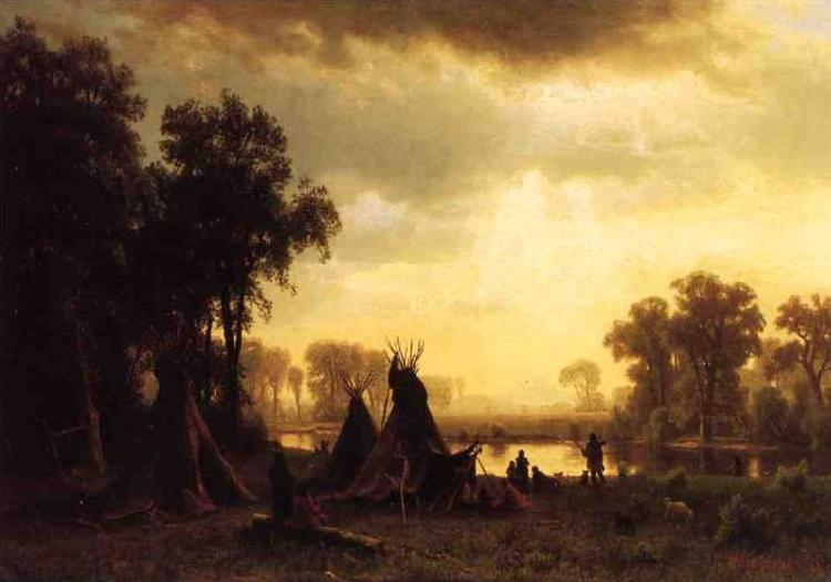 Albert Bierstadt An Indian Encampment